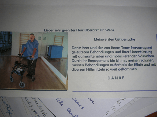 Patient about Dr. Wolfram Wenz orthopedist